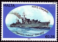 HMS CHARYBDIS (88) Dido-Class Cruiser Warship WWII Malta Convoys Stamp
