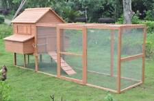 "Extra Large 145"" wood Hen Chicken Cage House Coop Huge w/Run 6 nesting boxes 12'"