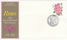 (35719) CLEARANCE GB FDC Roses - Bath Year of Rose 30 June 1976
