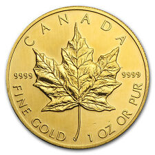 1993 Canada 1 oz Gold Maple Leaf BU - SKU #81562