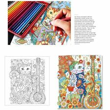 24 Pages Children Secret Garden Cats  Painting Graffiti Coloring Painting Book