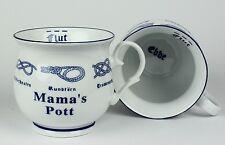 Mama´s Pott m. Seemannsknoten bauchig Becher Kaffeetasse Kaffeepott