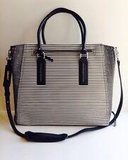 NEW Stella & Dot Madison Tech Bag ~ Black/Creme Breton Stripe ~ Retired $158!