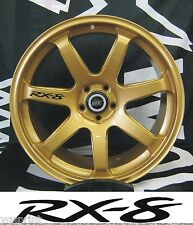 RX-8 6x ALLOY WHEEL DECAL STICKERS GRAPHICES CHOICE OF COLOURS FAST DISPATCH