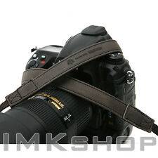 NEW MATIN Vintage-20 BLACK Leather Camera Strap for Canon Nikon Sony DSLR SLR