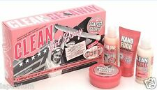 SOAP AND & GLORY CLEAN GETAWAY GIFT SET SHOWER GEL BODY BUTTER HAND CREAM MINI'S