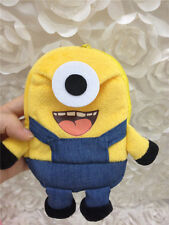 Cute Despicable Me Minion Plush Pouch Coin Purse Toy Cell Phone Bag Kids Gifts