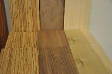 """Zebrawood, Walnut & Poplar Wood Veneer - 17 pieces each, 5""""x8""""    IC35"""
