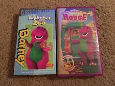 Lot Of 2 Barney VHS. Alphabet Zoo & Barneys House. TESTED!
