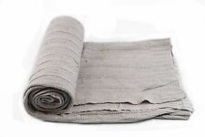 """Knitted Throw Blanket Cover Couch Sofa 48""""x 60"""", Light Gray color"""