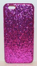 NEW VICTORIA'S SECRET DARK PINK GLITTER IPHONE 6 HARD CASE SLEEVE HOLDER SPARKLY
