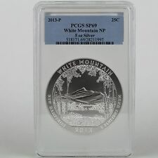 2013-P 25 Cent White Mountain NP 5 Troy oz. .999 Pure Silver Specimen PCGS SP69