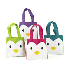 12 PENGUIN TOTES BAGS HOLIDAY Christmas PRESENTS BIRTHDAY party favors