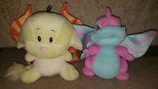Neopets Faerie Scorchio and  Kacheek Plushie Plush Talking Light Up Toys