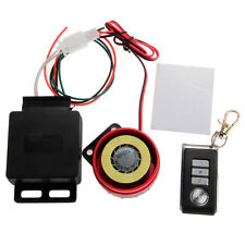 Motorcycle Motorbike Anti-theft Security Alarm System Remote Control Black