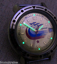 VOSTOK KOMANDIRSKIE JET FIGHTERS AIF FORCE Soviet Russian Military Wrist Watch