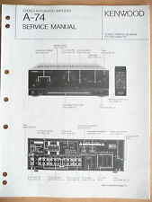 Service Manual Kenwood A-74 Amplifier,ORIGINAL