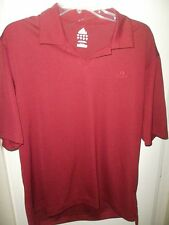 Men's Large Adidas Polo Golf Shirt Short Sleeve Burgandy Clima 365