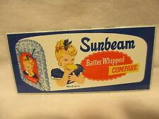 ''MISS SUNBEAM'' PORCELAIN ENAMEL STEEL SIGN NEARLY 30 YEARS OLD MINT CONDITION
