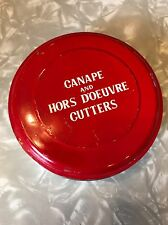 Vintage Tin Canapé & Hors D'Oeuvre Cutters Amazing Cond Japan