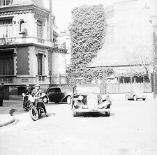 Citroën Traction Président Conseil c. 1955 - Policier Moto - Négatif 6 x 6 - 43