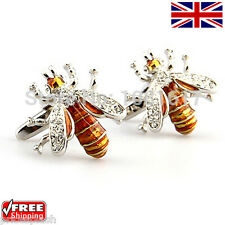Cool Men's Women's Dress Stunning Wasp Cufflinks Novelty Design Cuff-links