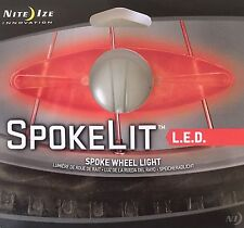 Nite Ize SpokeLit LED Safety Light Bike Wheels, Red Spoke Wheel Light SKL-03-10