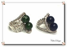 diy pdf tutorial Wire Wrapping Jewelry Sapphire Adjustable Ring,casual,Wicca