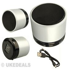 SILVER SPEAKER FOR PC IPAD MP3 MP4 WIRELES BLUETOOTH MINI PORTABLE AUDIO STEREO