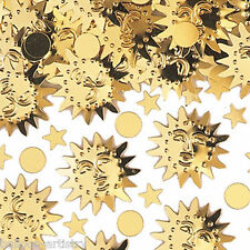 2 Bags Tropical Summer Party Sun Gold Sunshine BBQ Confetti Table Sprinkles