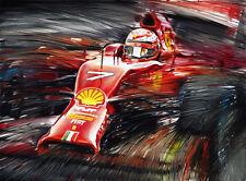 Kimi Raikkonen Ferrari F14 T F1 Race Car Formula 1 Gift Idea Art Print Poster