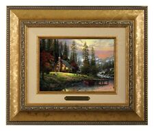 Thomas Kinkade A Peaceful Retreat - Brushwork (Gold Frame)