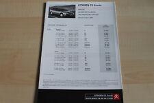 98603) Citroen C5 Kombi - Preise & tech. Daten & Ausstattungen - Prospekt 07/200