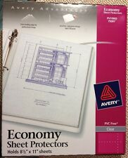 Avery Economy Page Sheet Protectors 8.5 x 11, 3 Ring, Clear, Qty 20, 75091