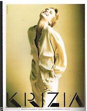 Publicité Advertising 1990 Haute couture Krizia par Giovanni Gastel