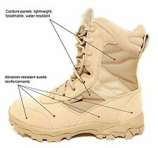 Blackhawk Warrior Wear Desert OPS Tan Combat Boots 11W Wide AR 670-1 Compliant