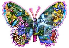 Butterfly Shaped Puzzle Waterfall Jigsaw 1000 Piece Flowers Family Fun Fan Gift