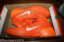 NIKE MEN'S HYPERDUNK 2013 TB BRILLIANT ORANGE SILVER STYLE 584433 800 SIZE 13