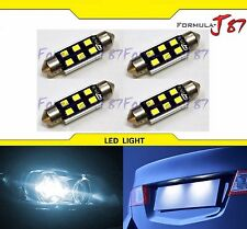 SMD LED Canbus Error Free Fuse 3W 43mm White 6000K Four Bulbs Replacement Lamp