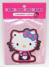 Sanrio Hello Kitty Black Dungarees Air Freshener - Strawberry Scent