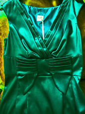 bnwt OASIS deep emerald GREEN SATIN DRESS UK12 US8 PARTY COCKTAIL BRIDESMAID-new