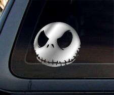 JACK SKELLINGTON - Nightmare Before Christmas Car Decal / Sticker- Chrome