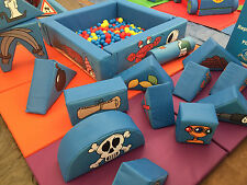 PIRATES 15 Piece Soft Play Set in a Bag ideal to hire- hire -