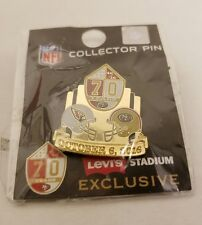 San Francisco 49ers vs Arizona Cardinals Gameday Pin Levi's Stadium 70 Years