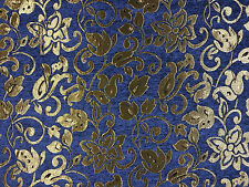 TEX EX 1147 FONTAINEBLEAU BLUE CURTAIN FURNISHING LIGHT UPHOLSTERY FABRIC DAMASK