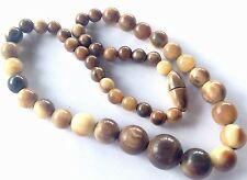 VINTAGE BOVINE COW HORN BEAD NECKLACE - BARREL CLASP