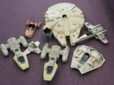 Lot of Vintage Kenner Star Wars Vehicles For Parts, Falcon X-Wing Y-Wing