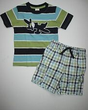 Gymboree East Coast Harbor Airplane Tee Shirt Top Shorts Set Boys 3T 4T NEW NWT