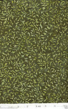 Olive Vines Batik Quilt Fabric - 1 Yard