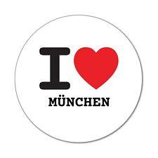 I love MÜNCHEN - Aufkleber Sticker Decal - 6cm